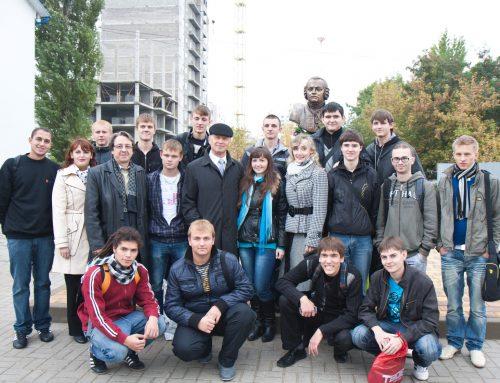 Открытие памятника М. В. Ломоносову, г. Белгород.