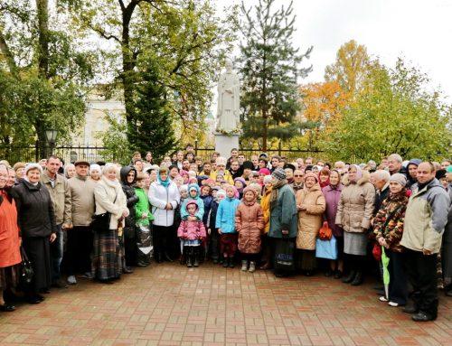 Открытие памятника преподобному Сергию Радонежскому г. Королёв