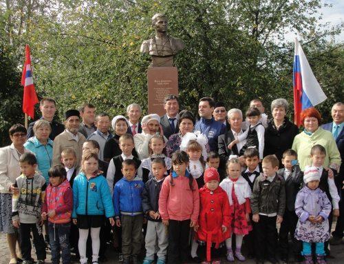 Открытие памятника Мусе Джалилю, с. Уленкуль.