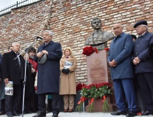 Открытие памятника Мусе Джалилю,  г. Казань.