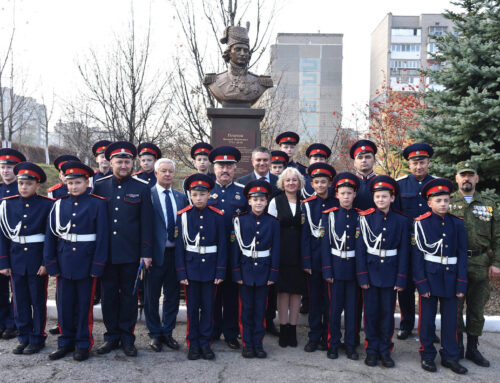 Открытие памятника М. И. Платову,  г. Луганск.
