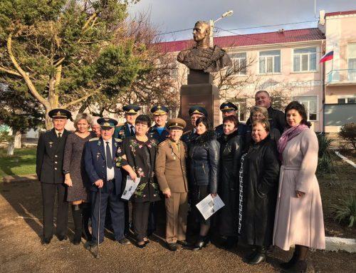 Открытие памятника А. И. Покрышкину,  пос. Кача.